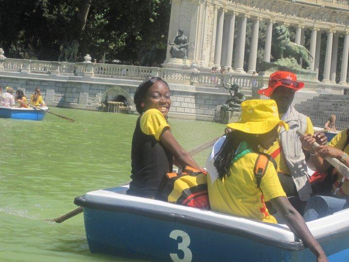 Bibie in a boat